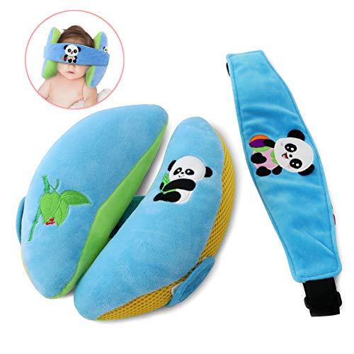 COFIT Weiches Baby-Nackenkissen Mit Atmungsaktiver Air-Mesh-Kopfstütze aus Premium-Baumwolle für Kinderwagen, Kindersitze und Babyschaukeln zum Schutz des Baby-Nackens