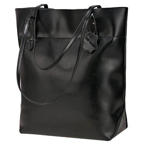 S-ZONE Damen Echtleder Tasche Handtasche Henkeltasche - Vintage Nylon Rosa