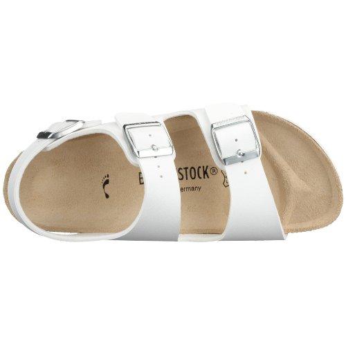 Birkenstock Classic MILANO BF Unisex-Erwachsene Knöchelriemchen Sandalen Weiß (Weiß)