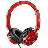 Kopfhörer auf Ohr, VOGEK Faltbare kabelgebundene on Ear Kopfhörer mit Verbessertem Bass und Stereo Sound, Headsets mit Lautstärkeregler Mikrofon für TV, Handy, Laptop and andere Geräten