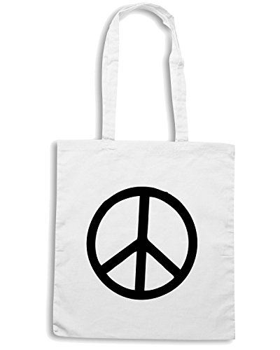 T-Shirtshock - Borsa Shopping TDM00208 peace Bianco