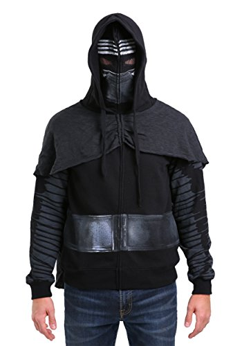 Star Wars Kylo Ren Zip Up Adult Costume Hoodie: Large