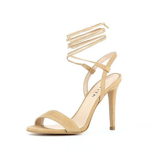 EVA Damen Sandalette Rauleder Nude