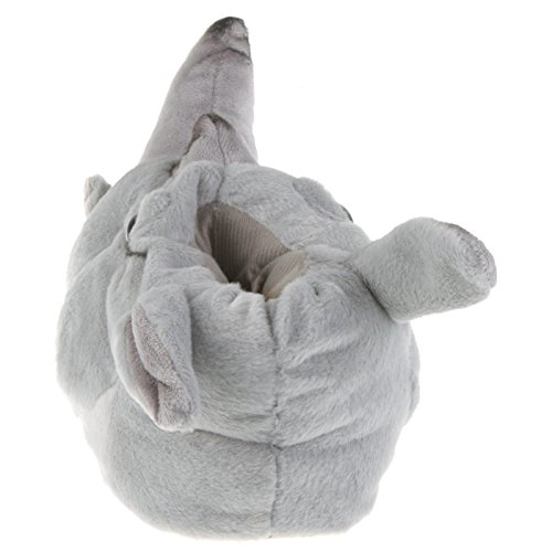 Tierhausschuhe, Pantoufles Grau Homme