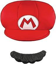 Gorra y bigote Mario? niño - Única