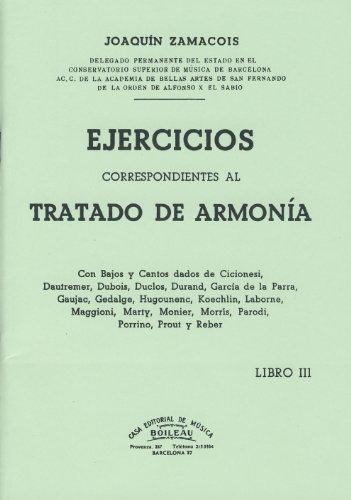 ZAMACOIS - Ejercicios correspondientes al tratado de armonia Vol.3