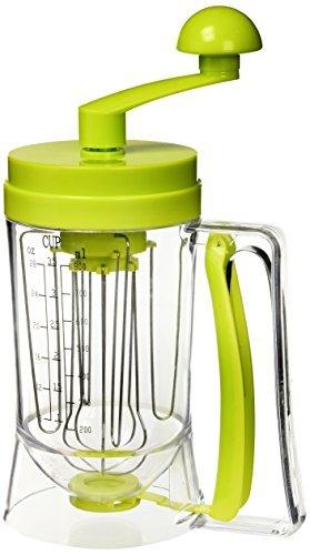 En Silicone Moule à pancake Mix Machine manuel avec distributeur de pâte de mesure/Cuisson Bake muffins Vert, 12 x 17 x 12 cm- Coloris aléatoire
