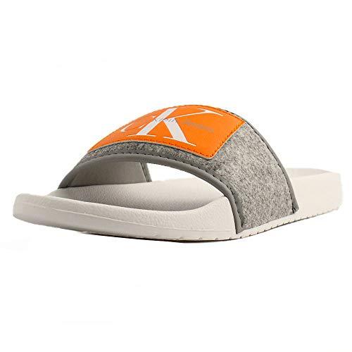Calvin Klein , Herren Dusch- & Badeschuhe Grau grau, Grau - grau - Größe: 43 EU