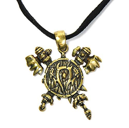 Sky Kette mit Messing Wappen Allianz, Hord, oder Untote WoW Anhänger (Hord)
