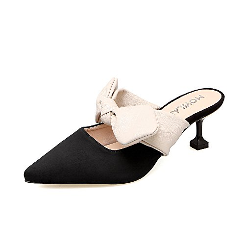 SHOESHAOGE Chaussures Femme Chaussures Femme Avec Muller Sandales Talon Fine De Printemps Avec 5Cm Couleur unie