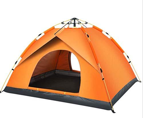 Unbekannt Pop Up Automatic Open Tunnelzelt, Outdoor Person verdicken wasserdicht, 2 Personen Einmannzelt 1 Person, Camping Wandern Festival Urlaub Camping Zelt im Freien,Orange