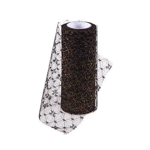 Supvox 10 Yards Garn Tüll Netting Rolls Organza Stoff für Hochzeit Bogen Tutu Rock DIY Handwerk Geschenkverpackung (6 Zoll) -
