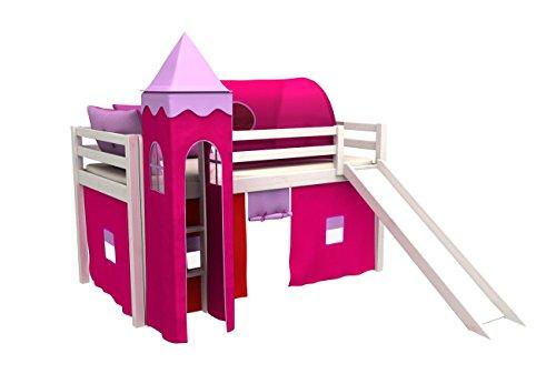 Letto per bambini con scivolo,cameratta bambino letto,letto a castello,90x200cm, molti colori