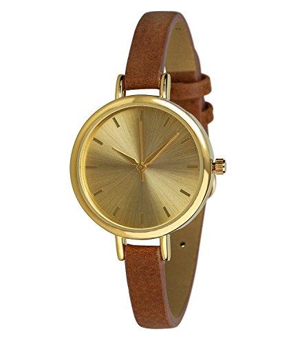Six 274-318-Uhr für Frauen, PU-Armband Braun