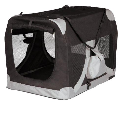 Trixie 39711 Mobile Kennel, XS-S: 35 × 35 × 50 cm, schwarz/grau