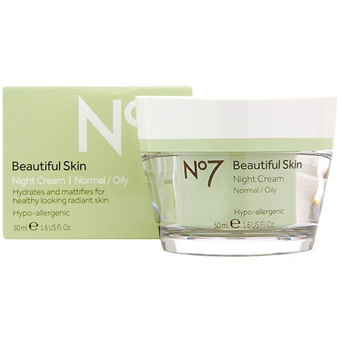 Boots No7 Beautiful Skin Night Cream - Normal / Oily 1.6 oz. by BOOTS [Beauty] (English Manual)
