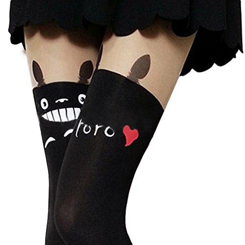 Sanwood Womens Socks Cartoon Animal Tattoo Tights Pantyhose
