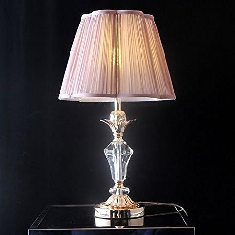 Dormitorio Lámpara Romántico Púrpura Cristal Lámpara De Mesa De La Boda Simple Moderno Dormitorio De Lujo Dormitorio Lámpara Luces Decorativas