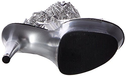 Pleaser ADORE-1017RSFT (Clear/Silver/Silver)