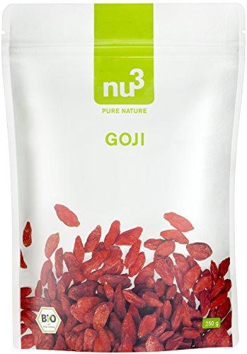 Chia Samen Mit Haferflocken (nu3 Premium Bio Goji Beeren 250g - Besonders aromatisch da in ökologischem Anbau an der Sonne getrocknet und handverlesen - Goji Bio Qualität in Deutschland geprüft und bestätigt)