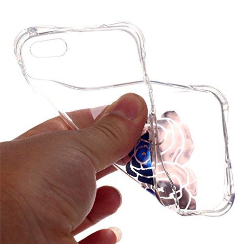 SE 5 5S Hülle, iPhone SE 5 5S Hülle, SATURCASE Schönes Muster Bronzen Ultra Dünn Weich TPU Gel Silikon Schützend Zurück Case Cover Handy Tasche Schutzhülle Handyhülle Hülle für Apple iPhone SE 5 5S (M Muster-2