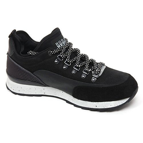 B9862 sneaker uomo HOGAN REBEL R261 scarpa nero shoe man Nero