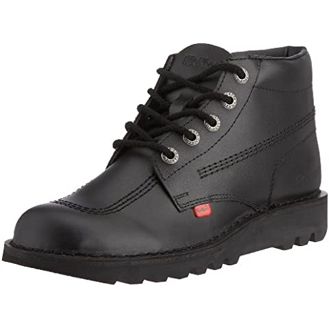 Kisses Kick Hi Youth Black Patent - Botas para hombre