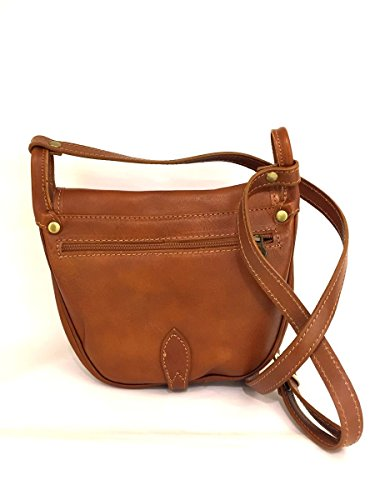 Borsa a tracolla spalla 953-92 in pelle made in italy bag MainApps Cuoio