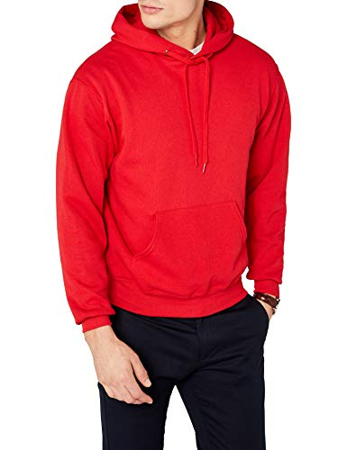 Fruit of the Loom Herren Kapuzenpullover, Einfarbig, Gr. Large, rot