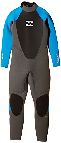 BILLABONG 2016 Junior Intruder 5/4mm Back Zip GBS Wetsuit Graphite/Blue O45B10 Age/Size - 16 Years