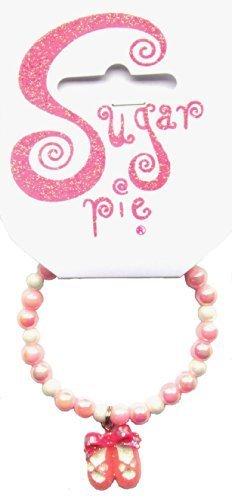 rmband mit kleinen Perlen und Ballett Schuhe Charme, Sortiert ()