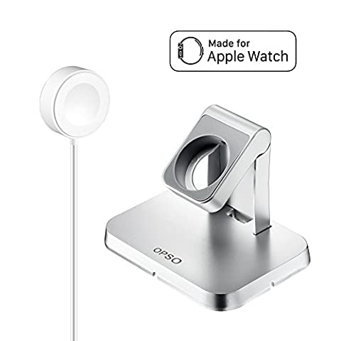 [Apple MFi Certified] Apple Watch Chargeur, OPSO Station de chargement magnétique et Stand pour Apple Watch / iWatch 38mm et 42mm avec câble de chargement magnétique détachable - 3.3Feet (1 Meter)