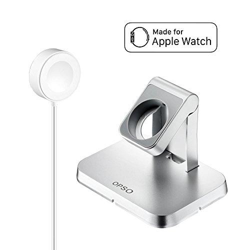 [Apple MFi Certified] Apple Watch Cargador, OPSO Magnetic Charging Dock y soporte para Apple Watch / iWatch 38mm y 42mm con cable de carga magnético desmontable - 3.3Feet (1 metro)