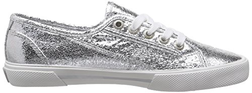 Pepe Jeans Aberlady Metal, Sneakers basses femme Argent (Silver)