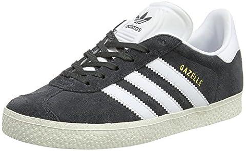 adidas Gazelle, Baskets Basses Mixte Enfant, Gris (Dgh Solid Grey/Ftwr White/Gold Metallic), 28 EU