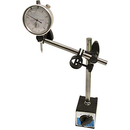 Dial test indicator DTI gauge & magnetic base stand clock gauge TDC TE107TE108 by A B Tools (Dial Indicator Gauge)