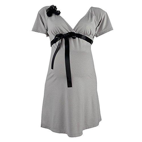 Cache Coeur Damen Nachthemd Diva Grau Grau