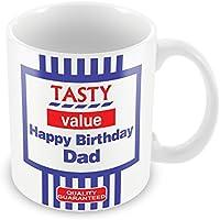 Personalised Tasty Value Mug 91 funny gift idea kids son daughter mum dad nan grandad aunt uncle cousin friend valentines birthday christmas