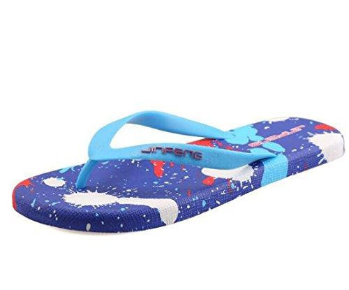Pantofole a sfera flip-flop EVA Ventilare i tanga Casual Beach Style Pantofole confortevoli Pantofole pieghevoli accoglienti Taglia UE 39-44 Blue