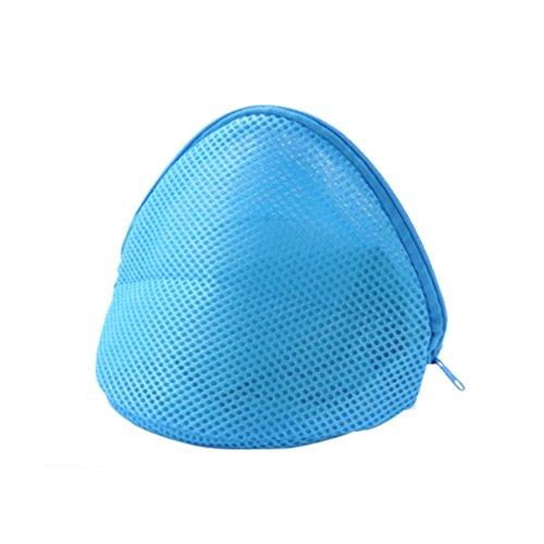 baffect keine Verformung BH Dessous waschen Tasche Schutz Wäschekorb Frauen Strumpfwaren Wäschesäcke Nylon Material Langlebig Waschen, blau, - Waschen Bh Protector