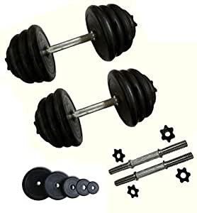 Dumbbell Set Spinlock Rubber weights 15kg