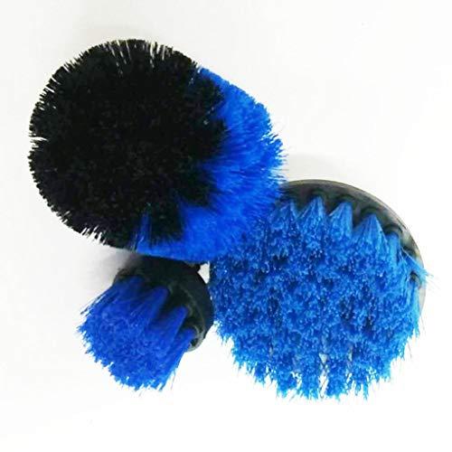 jikaifaquyanhel Fugenbohrer, Fugenbürste, Wannen-Reiniger, Kombi-Werkzeug-Set, 3-teilig - blau