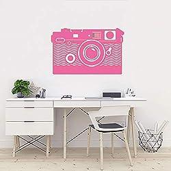 Kamera Wandkunst Aufkleber Vinyl Transfer Fotografie Video Wandaufkleber Fotostudio Wanddekor Kamera Stil Fenster Aufkleber ~ 1 42 * 67 cm