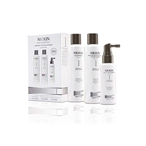Kit Nioxin Système De Cheveux 1 Pour Cheveux Normaux À Fin Naturel (3 Produits)