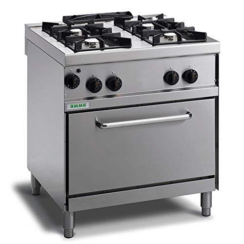 Cocina industrial 4 fuegos a gas con horno y llama piloto -...