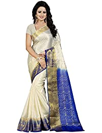 Nirja Creation Women'S Cotton Silk Saree With Blouse( Madhuri ) (Blue)