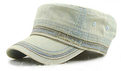 Roffatide Unisex Baumwolle Flat Top Peaked Baseball Cap Armee Militär Corps Hut Kappe Visier Blau B Vintage-damen-hut