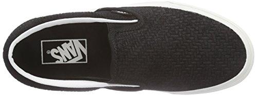 Vans Classic Slip-on Unisex-Erwachsene Sneakers Schwarz (braided Suede/black)