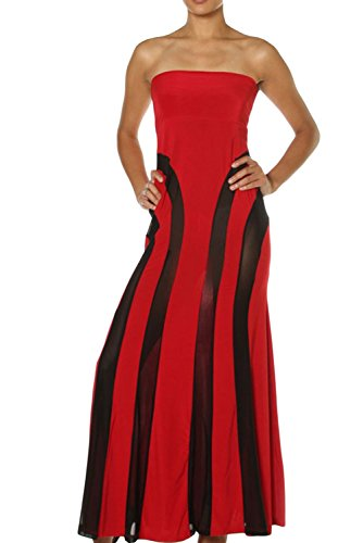 E-Girl Deman Rot SY6536-3 langes kleid Rot