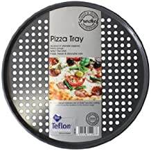 Prochef - Bandeja para pizza (35,5 cm, teflón), color gris